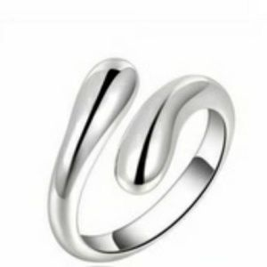 Silver Water drop Ring